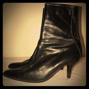 "Coach ""Jeanne"" Blk Leather Calf High Boots, Size9"